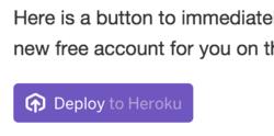 'Deploy to Heroku' button
