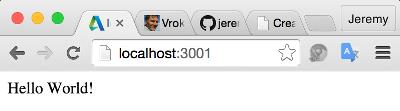 Node.js server running